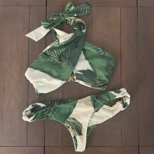 Beach Riot // Stone Cold Fox Palm Bikini Set Small